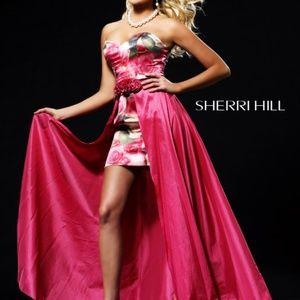 Sherri Hill strapless dress with detachable skirt